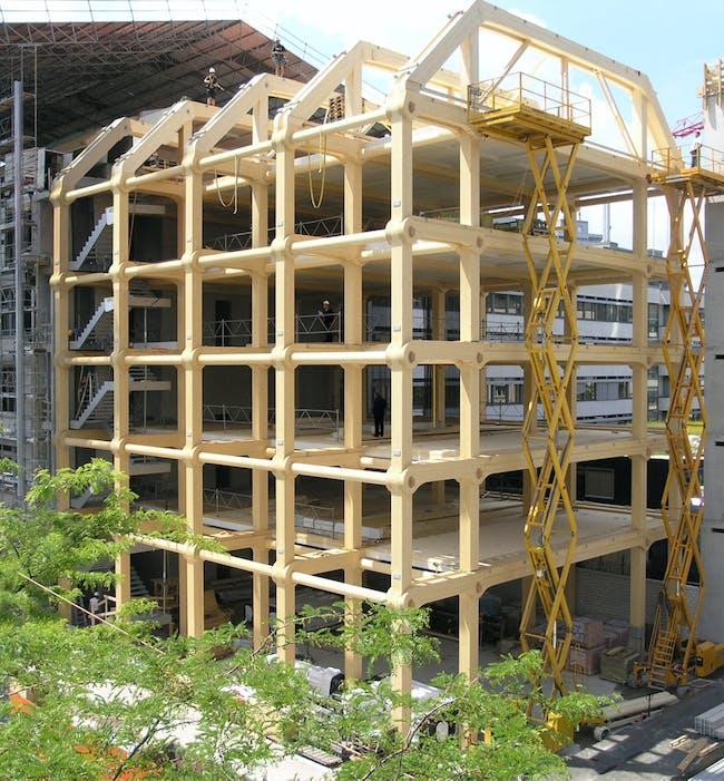 Tamedia Building, 2013, Zurich, Switzerland. Photo by Shigeru Ban Architects Europe
