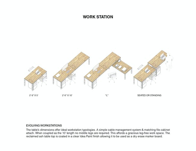 Evolving Work Stations. Ground/Work Competition Finalist Entry by Of Possible Architectures. Image courtesy of OPA.