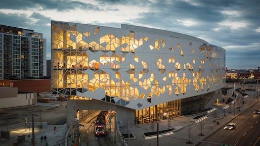 Calgary Central Library, Calgary, Alberta, Canada | Snøhetta and DIALOG. Photo © Michael Grimm.