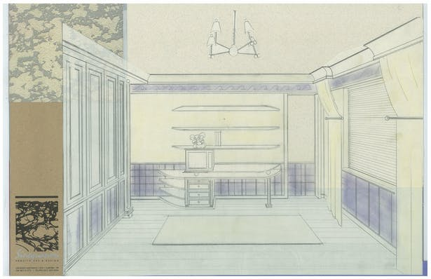 Boy's Bedroom   Interior Hand-Sketch