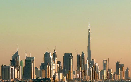 "Dubai skyline in 2010. Once completed, the emirate's new Burj 2020 tower will steal the title of ""World's Tallest Office Tower"" from New York's One World Trade Center. The height of Burj 2020 has not been announced yet. (Photo: Jan Michael Pfeiffer; Image via Wikipedia)"