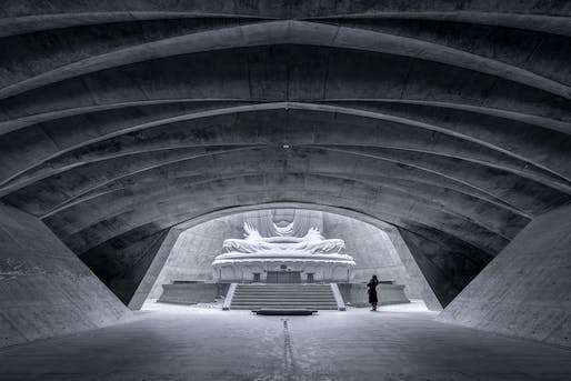 Interior: Hill of the Buddha, Makomanai Takino Cemetery Sapporo, Japan. Photographer credit: Vincent Wu/APA19/Sto.