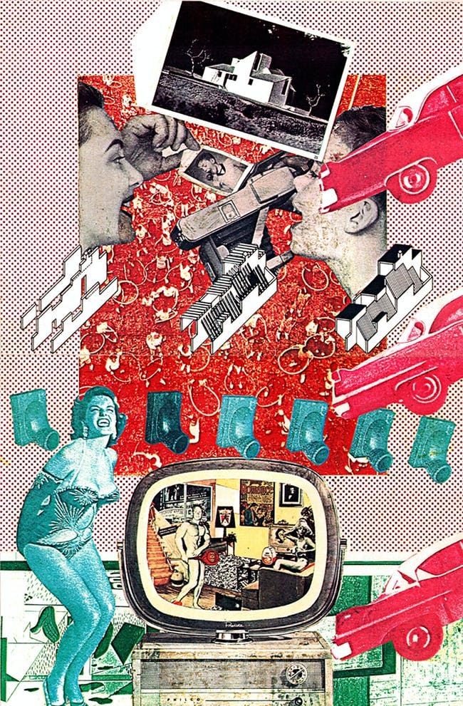 Craig Hodgetts, collage from Design Quarterly 100, Inside James Stirling, 1976. Courtesy of Craig Hodgetts. From the 2015 Individual Grant to Todd Gannon and Craig Hodgetts for Biography of a Teaching Machine and Other Writings.