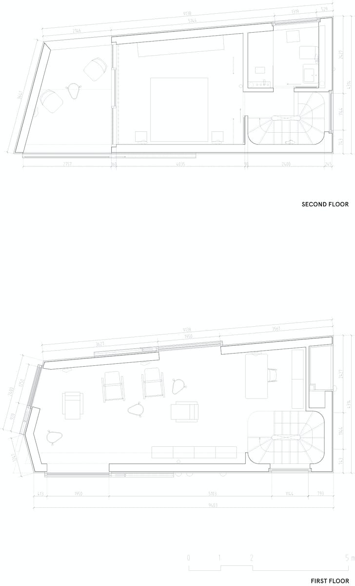 Floor plan +1 & +2, courtesy of Wiel Arets Architects (WAA)
