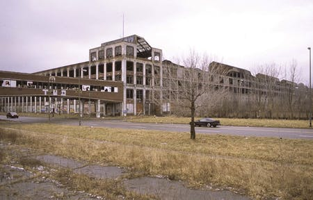 Former Packard Plant, East Grand Boulevard at Concord Street, Detroit, 2012. Image: Camilo Jose Vergara