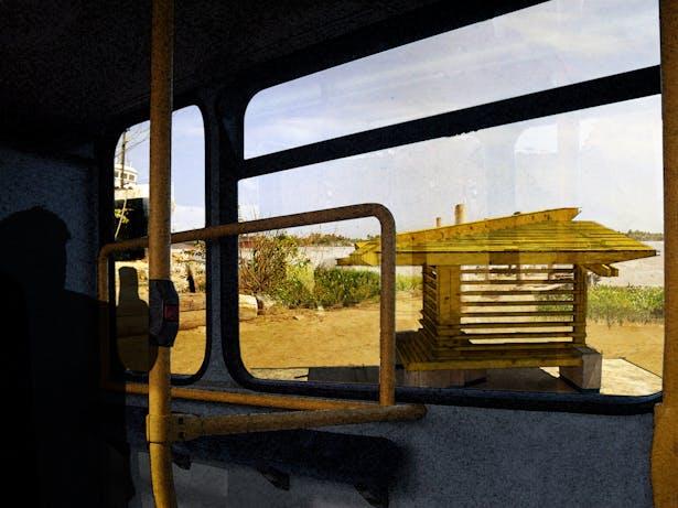 Transit Pavilion from Bus