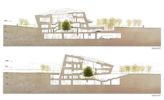Sections (Image: Matteo Cainer Architects)