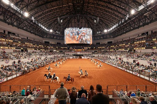 """Winner of the National Award in the """"Greater than $200 Million"""" category: Dickies Arena in Fort Worth, TX. Architects: HKS, Inc., Dallas, TX; David M. Schwarz, Washington D.C.; Hahnfeld Hoffer Stanford, Fort Worth, TX. Photo: Steve Hall."""