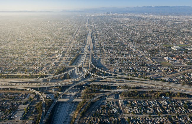 Los Angeles, looking north towards the Hollywood sign. Photo by Iwan Baan.