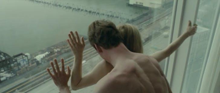 Window-based hotel sex from Steve McQueen's 'Shame' (2011).