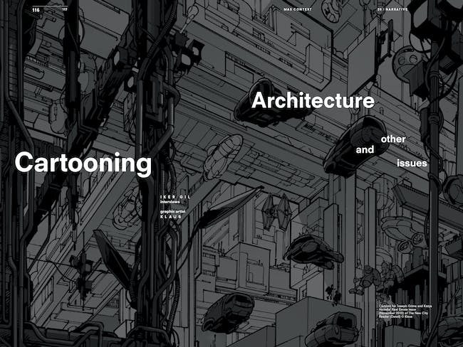 MAS Context Narrative. Cartooning Architecture and Other Issues (spread) © MAS Context