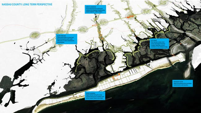 Living with the Bay: A Comprehensive Regional Resiliency Plan for Nassau County's South Shore by Interboro team. Photo via rebuildbydesign.org