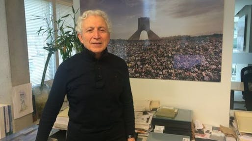Hossein Amanat, who designed Iran's Azadi Tower, now lives in Vancouver where he runs his own architecture practice. Photo via bbc.com