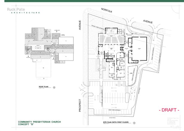 Developed Site & Roof Plans