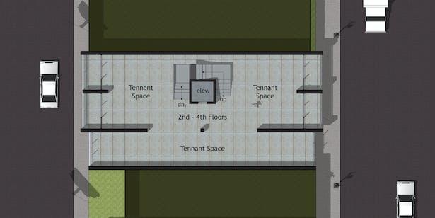 Option A - Second through Fourth Level Floor Plan