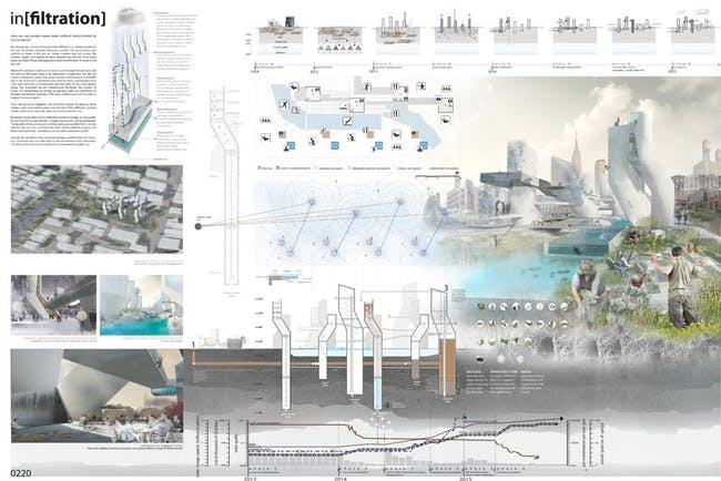2nd Place: in[filtration] Andrea Deberry and Michele Niaki (students); Urbana-Champaign, Illinois