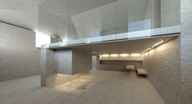 view to 'shower', 'kitchen', level 1