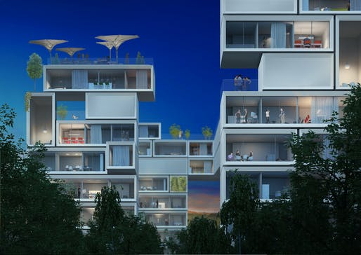 The renewable future: Sobek's renderings of an emissions-free city.