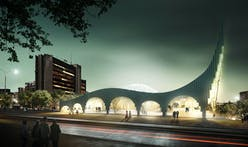 Prishtina Central Mosque Entry by Taller 301 and L+CC