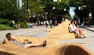 "Have a seat at the ""Urban Reef"" installation in downtown Vancouver, Canada"