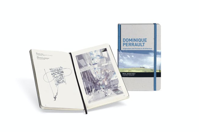 The Dominique Perrault notebook, one of the newest additions to the Moleskine® IPA collection.