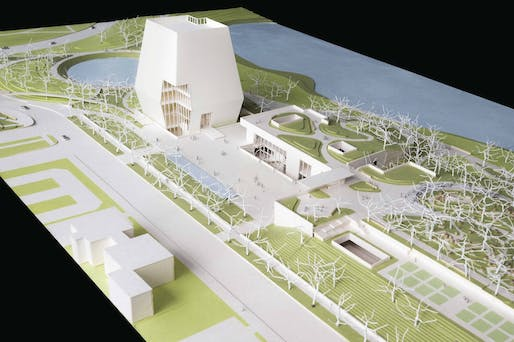 Model of the Obama Presidential Library