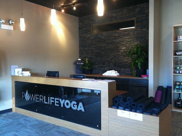 Power Life Yoga - West Des Moines, Iowa   Reception Desk