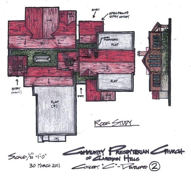 Roof Plan & Elevation Study