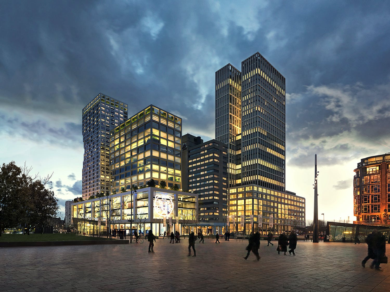 Mvrdv to design 50 000m2 weenapoint mixed use complex in for Builders first