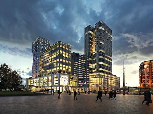 Weenapoint mixed-use complex in Rotterdam by MVRDV. Image © MVRDV.