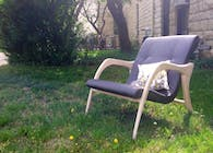 Leisure Lounge Chair- Designed, Built, and Upholstered