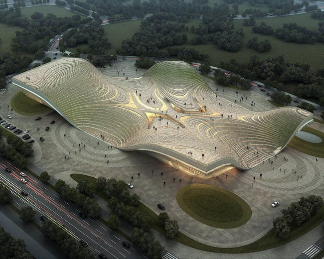 Special Mention in the Research Category: Exhibition Center of Otog by Kuan Wang