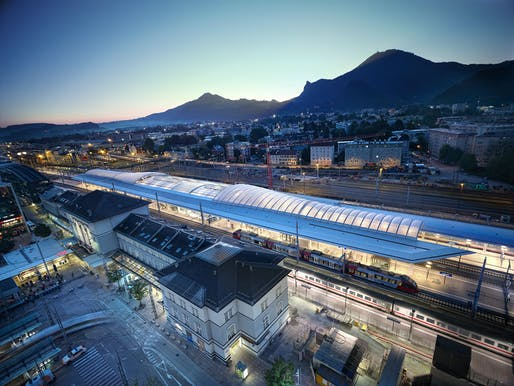 Salzburg Central Station by kadawittfeldarchitektur. Photo: Taufik Kenan.