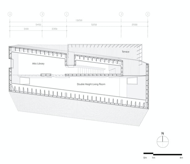 Shear House by stpmj, 2nd Level Floor Plan