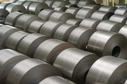 Rolled steel. Image: Reliance Foundry.
