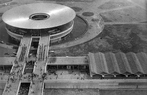 International Trade Fair. Accra. 1967. Ghana Trade Fair Center, Vic Adegbite (chief architect), Jacek Chyrosz, Stanislaw Rymaszewski (project architects). Photo by Jacek Chyrosz. Private archive of Jacek Chyrosz, Warsaw (Poland). Reproduced with permission