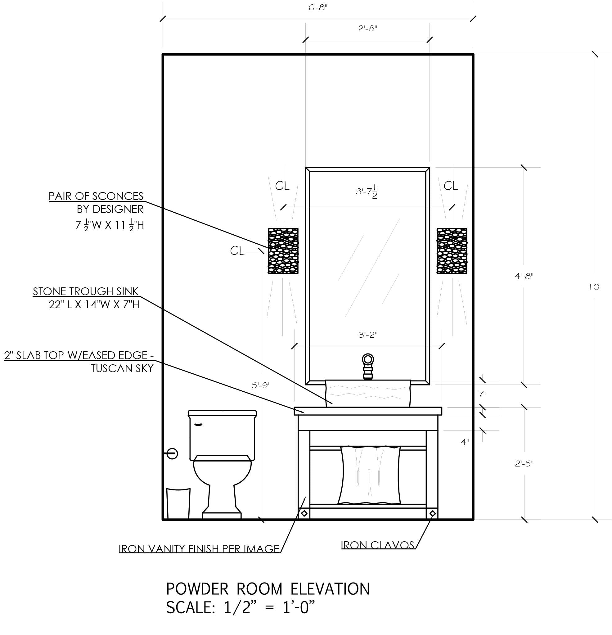 powder room elevation