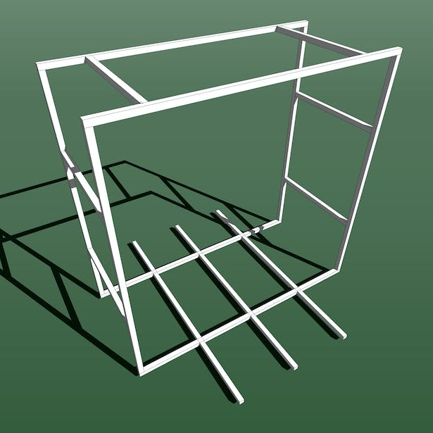 sketch up model for steel frame