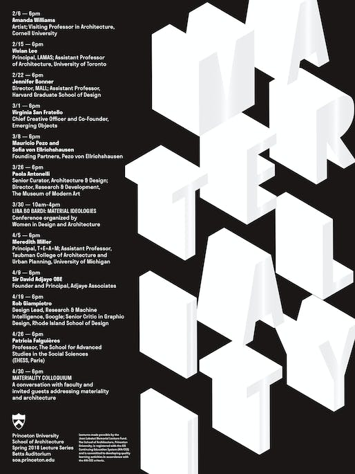 Poster courtesy of Princeton School of Architecture.