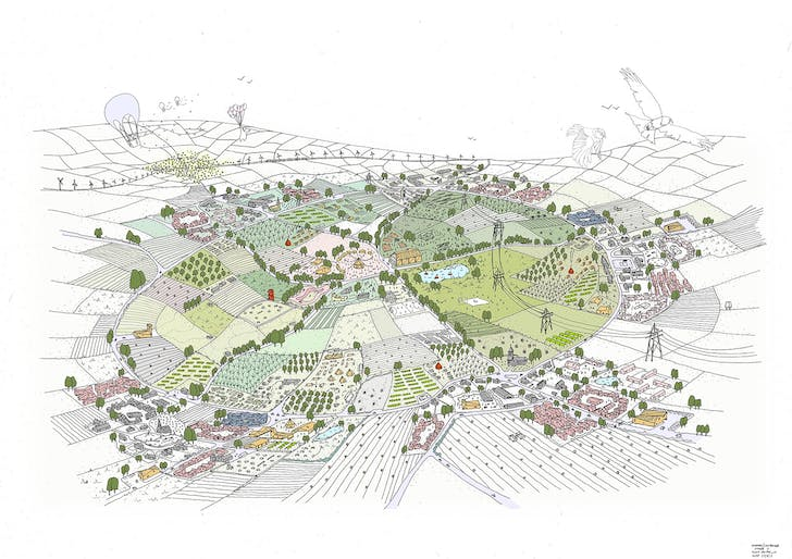 Village cluster drawing. Image courtesy of VeloCity.