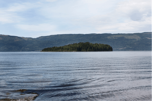 Two memorial sites will be built in Oslo and the island of Utøya, pictured above.