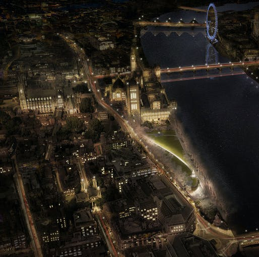 Aerial view. © Adjaye Associates and Ron Arad Architects.