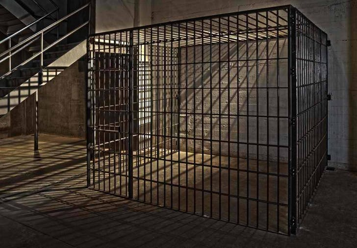 The 'Jail Cell' set. Image courtesy Kink.com