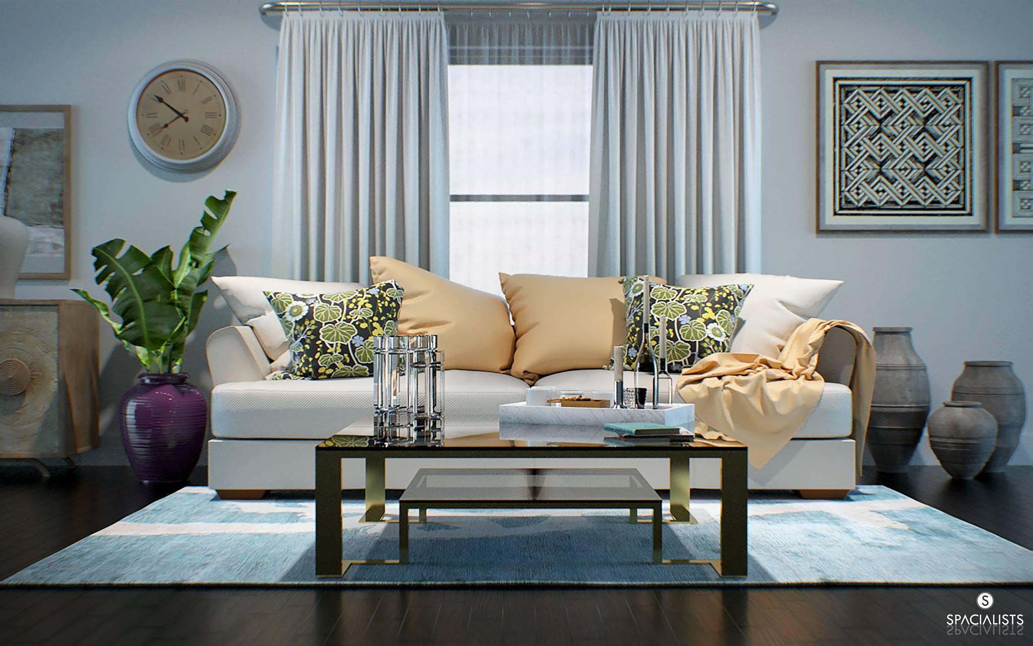 Living Room Design 3D Rendering | SPACIALISTS ...
