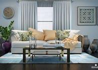 Living Room Design 3D Rendering
