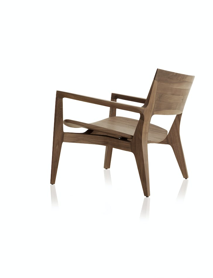An armchair by Almeida. Image courtesy the designer.