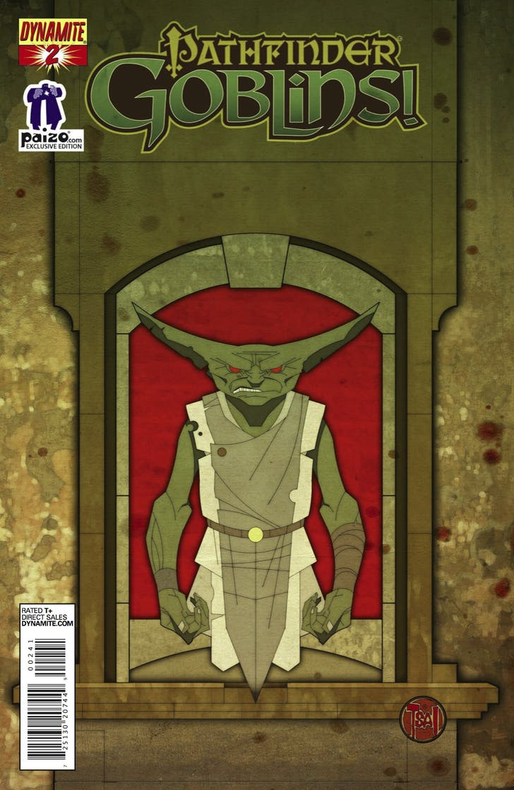 Comic book cover for 'Pathfinder: Goblins!' that Tsai designed with the Eye Gaze technology. Image via deviantart.com.