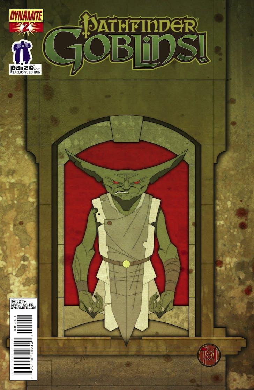 Comic book cover for 'Pathfinder: Goblins!' that Tsai designed with the Eye Gaze technology. Image via deviantart.com.