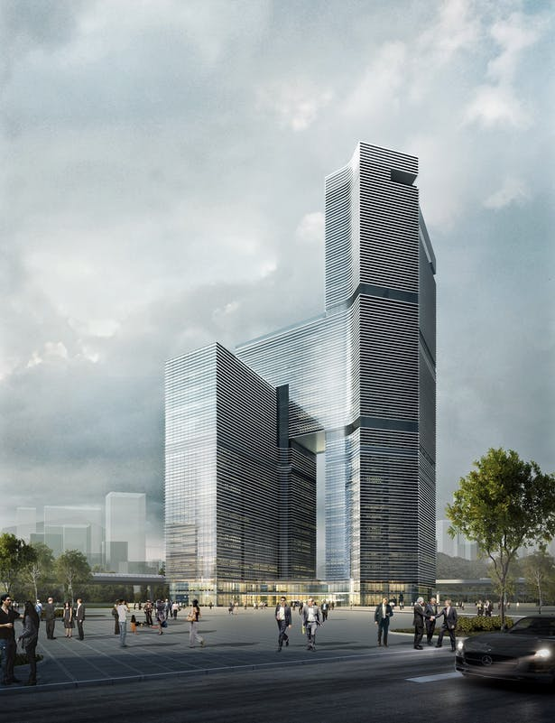 Nansha Kingboard Free Trade Zone Mixed-use Project, Guangzhou, China, by Aedas