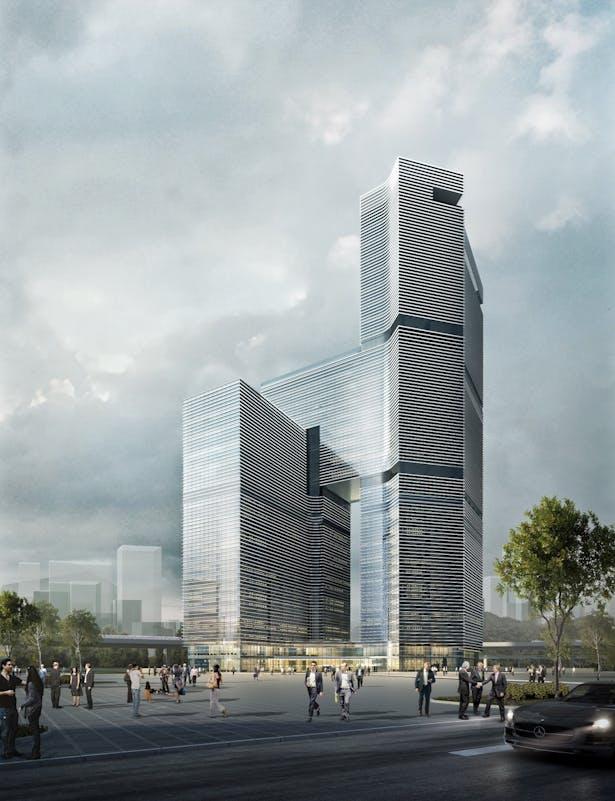 Nansha Kingboard Free Trade Zone Mixed-use Project, Guangzhou, China, by Aedas